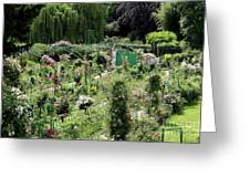 Claude Mounets Green Garden Gate Greeting Card
