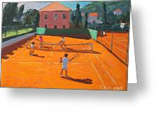 Clay Court Tennis Greeting Card