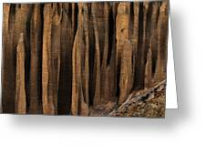 Clay Organ Pipes Formation In Front Greeting Card