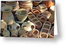 Clay Pots And Other Containers Greeting Card