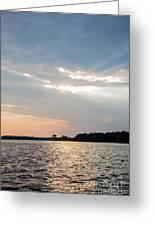 Clayton Lake Sunset Greeting Card