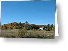 Clear Autumn Country Sky Greeting Card