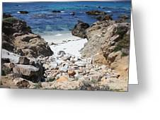 Clear California Cove Greeting Card