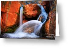 Clear Creek Falls Greeting Card by Inge Johnsson