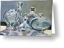 Clear Glass Bottles Greeting Card
