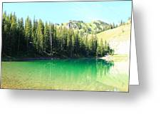 Clear Green Water Greeting Card