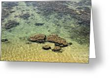 Clear Indian Ocean Water With Rocks At Galle Sri Lanka Greeting Card