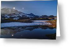 Clear Water Rainier Reflection Greeting Card