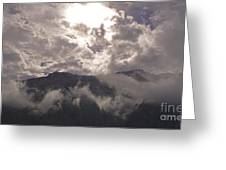 Clearing Clark's Fork Storm Greeting Card