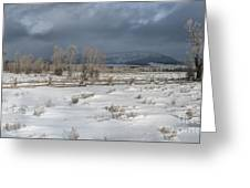 Clearing Storm In The Tetons Greeting Card