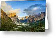 Clearing Storm - Yosemite National Park From Tunnel View. Greeting Card