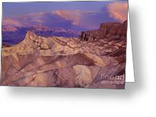 Clearing Sunrise Storm Zabriske Point Death Valley National Park California Greeting Card