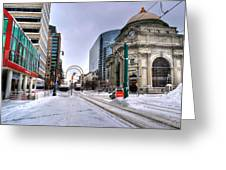 Clearing The Way...downtown Buffalo Ny 2014 Greeting Card
