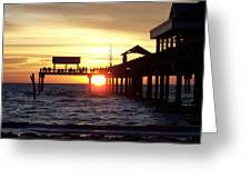Clearwater Beach Pier Greeting Card