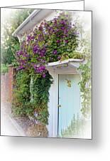 Clematis Around The Door Greeting Card