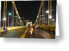 Clemente Bridge Stragglers Greeting Card