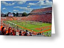 Clemson Tiger Band Memorial Stadium Greeting Card