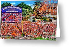 Clemson Tigers Memorial Stadium II Greeting Card