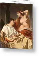Cleopatra And Antony Greeting Card