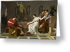 Cleopatra And Octavian Greeting Card