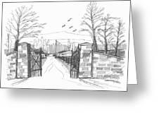 Clermont Farm Gate Greeting Card