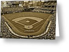 Cleveland Baseball In Sepia Greeting Card