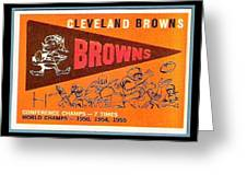 Cleveland Browns 1959 Retro Print Greeting Card