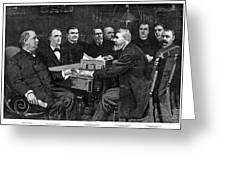 Cleveland Cabinet, 1893 Greeting Card