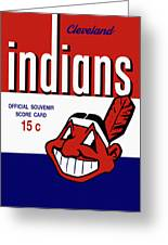 Cleveland Indians 1957 Scorecard Greeting Card