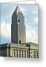 Cleveland Key Bank Building Greeting Card by Frozen in Time Fine Art Photography