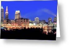 Cleveland Panoramic      Greeting Card