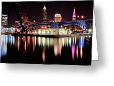 Cleveland Panoramic Reflection Greeting Card
