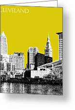 Cleveland Skyline 3 - Mustard Greeting Card