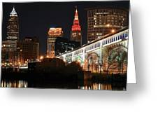Cleveland Up Close Greeting Card