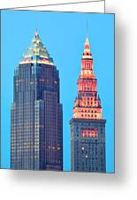 Clevelands Iconic Towers Greeting Card