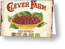Clever Farms Beans Greeting Card