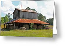 Clewis Family Tobacco Barn Greeting Card by Suzanne Gaff