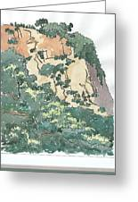 Cliff Above Will Rogers Beach Greeting Card