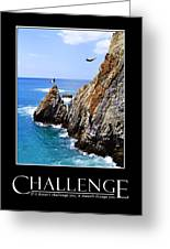 Cliff Divers Of Acapulco Greeting Card