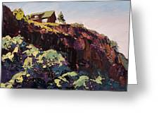 Cliff Hanger Greeting Card