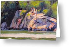 Cliff Jumping Greeting Card