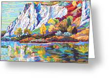 Cliff Landscape Greeting Card