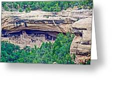 Cliff Palace From Chapin Mesa Top Loop Road In Mesa Verde National Park-colorado  Greeting Card