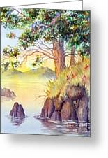 Cliff Trees Greeting Card