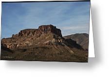 Cliffs Above Apache Lake Greeting Card