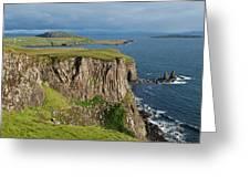 Cliffs Along The Rugged North Coast Greeting Card