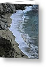 Cliffs And Surf Big Sur Coast Greeting Card by Elery Oxford