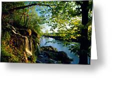 Cliffs And Trees Along Malanaphy Greeting Card