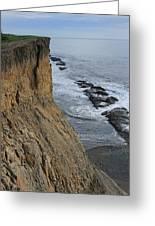 D3a6138-cliffs At Bolinas  Greeting Card