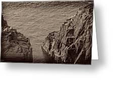 Cliffs At Bonavista Greeting Card
